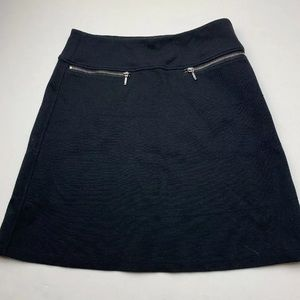 Athleta Skirt XS Black Zipper Pockets
